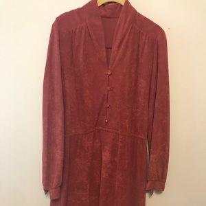 Wine Colored Crushed Velvet Dress
